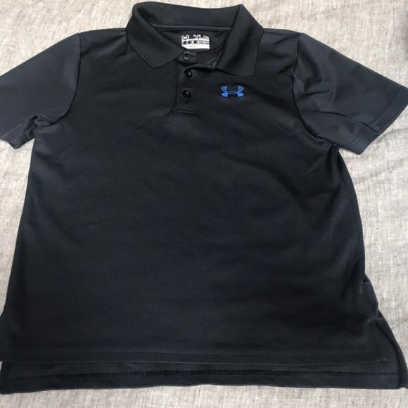 63a34f8d Boys size Large Under Armor heat gear polo shirt